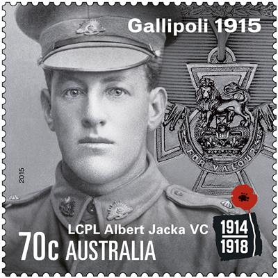 Australia's first WWI VC recipient remembered in Gallipoli stamp issue