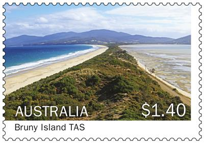 70c Bruny Island Tasmania stamp_Islands of Australia_2015.jpg