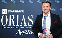 CEO Naked Wines, Luke Jecks pictured with the 2015  inaugural StarTrack ORIAS People's Choice Award