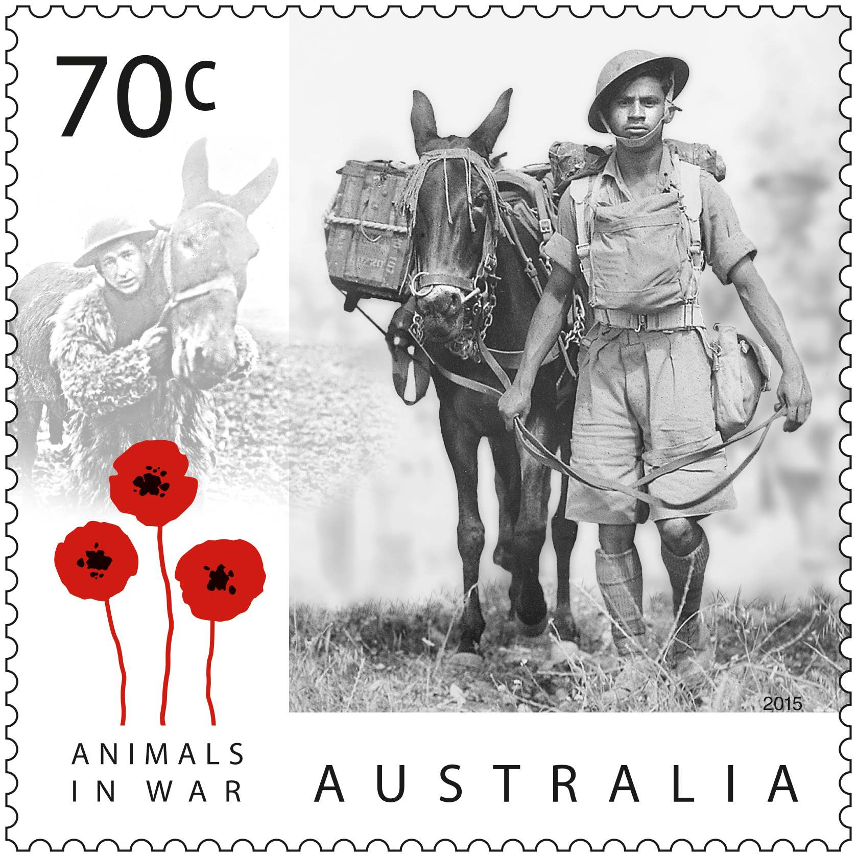 Australia Post commemorates a century of animals in war in new stamp issue