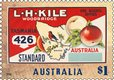 Australia's nostalgic fruit labels at stamp size