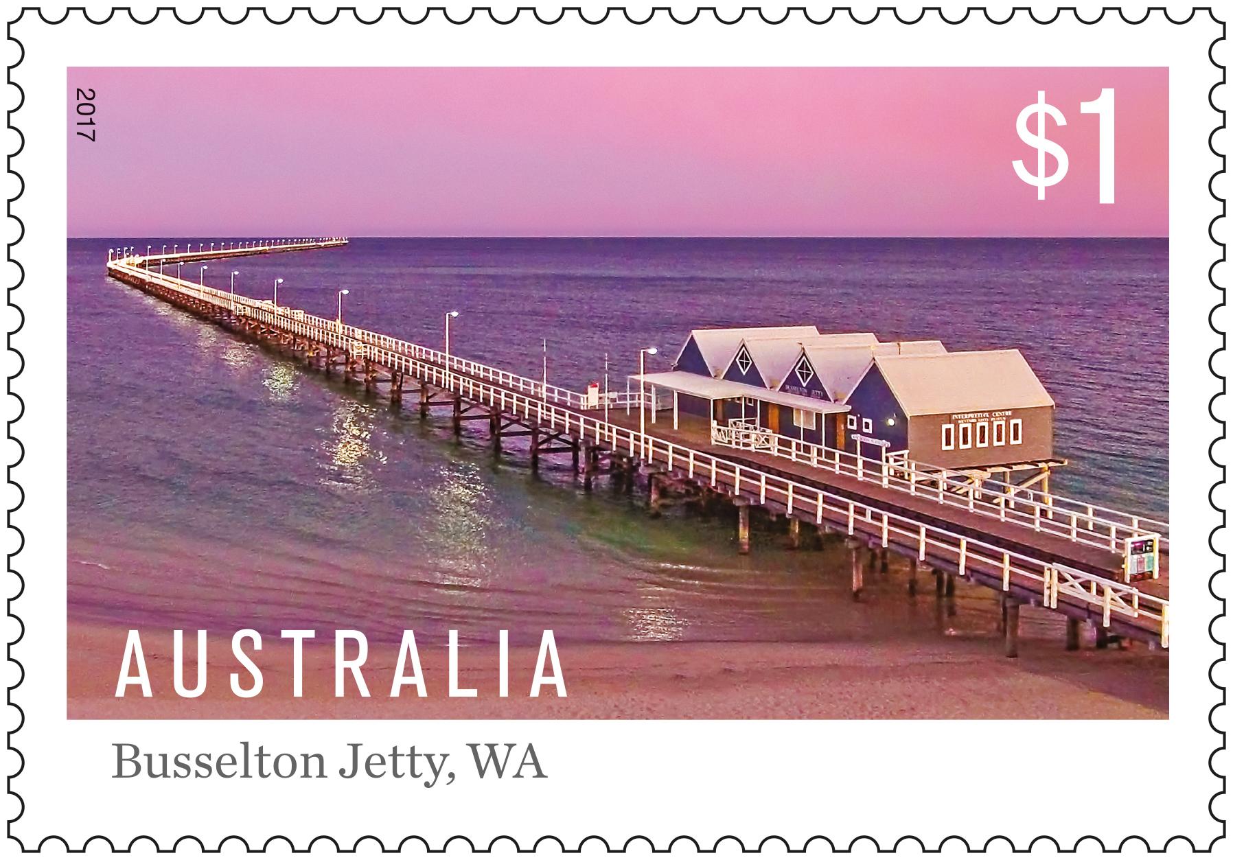 $1 Stamp, Australian Jetties, Busselton Jetty WA.