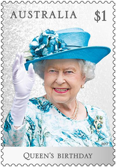 $1 Queen's Birthday stamp
